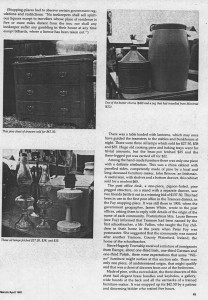 Auction Sale in Bonnechere River, excerpt from Canadian Collector, Vol 16. No. 2. March/April 1981. Page 3