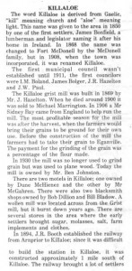 This story was originally published in the 70's in Barry's Bay This Week. This is Part 1 of 2. Betty Mullin Collection.