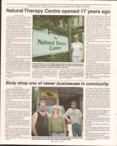 Killaloe Today, published in August of 2008 to commemorate the Town's 100th Birthday. Page 16