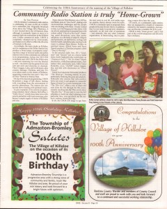 Killaloe Today, published in August of 2008 to commemorate the Town's 100th Birthday. Page 38