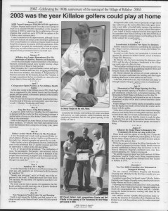 A trip down memory lane, produced by the Eganville Leader to commemorate Killaloe's centennial, in August 2008. Page 52