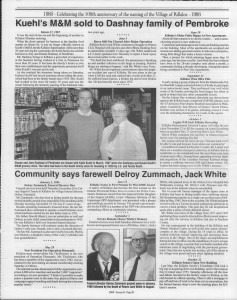 A trip down memory lane, produced by the Eganville Leader to commemorate Killaloe's centennial, in August 2008. Page 69