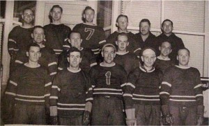 Photo of Killaloe Senior Hockey team 1949. Killaloe Millennium Museum Exhibit.