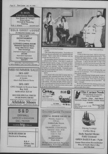 The Laker Issue 11, From Friday July 29, 1988.