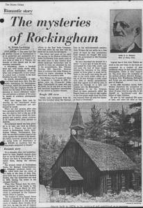 Mysteries of Rockingham 1