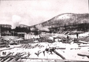 Photo of a J.R. Booth Lumber Camp.