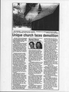 Unique Church demolition - rockingham