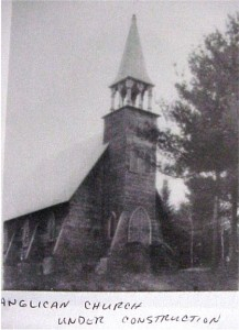 anglican church under construction. wc