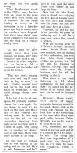 Story and photos about the retirement of local barber Ed Cybulski from the Eganville Leader 1976. Pearl Murack Collection. This is part 3.