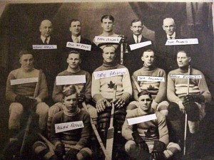 This photo shows a Killaloe hockey team from perhaps the 1920s. Help with names would be appreciated. Killaloe Millennium Museum.