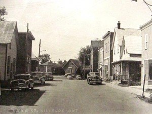 View of Lake Street early 1950's. Killaloe Millennium Museum Exhibit.