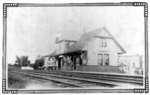 Photo of Killaloe train station. Betty Mullin Collection.