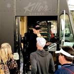 Placing orders at the Killer Burger Food Truck
