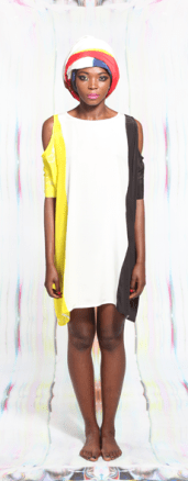 Beastie Boy Print Cut Shoulder Sharjah Dress