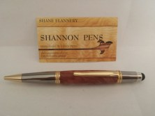 Handmade Pen With Stylus In Red MaleeBurl €40.00 http://craftbay.ie/Product/900/Gift-Ideas/Couples/Handmade-Pen-with-Stylus-in-Red-MaleeBurl