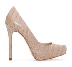 Zara €39.95 - Platform Crocodile Leather Heels