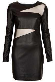 Topshop €71.55 - Jezzebell PU & Mesh Dress