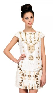 Heavily Embellished Sequin Detail Dress http://www.little-mistress.co.uk/clothing-c9/party-dresses-c14/cream-heavily-embellished-sequin-detail-dress-p711