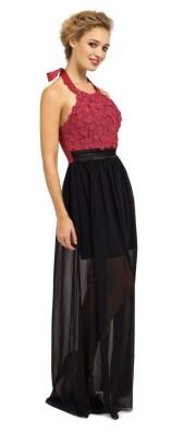 Berry & Black Floral Appliqué Maxi http://www.little-mistress.co.uk/clothing-c9/maxi-dresses-c20/berry-black-embellished-floral-applique-halterneck-chiffon-maxi-dress-p954