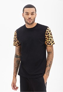 Forever 21 €10.45 - Cheetah Print Colorblock Tee http://bit.ly/1vCTawK