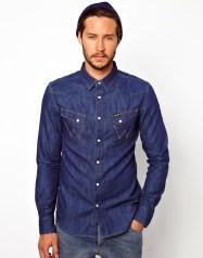 Wrangler €71.43 - Denim Shirt Slim Fit City Western http://bit.ly/1vGa11I