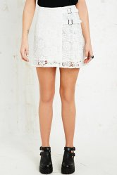 Urban Outfitters €85 - Little White Lies Valentine Lace Kilt in White http://tinyurl.com/kxl7pjg