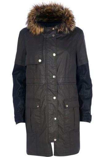 River island €120 - Dark Khaki Waxed Parka Jacket http://bit.ly/1upHLG7