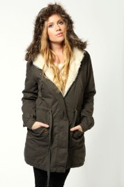 Boohoo €68 - Emily Parka With Fur Hood http://bit.ly/1tw69m2