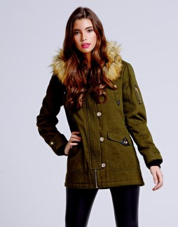 Girls On Film €102.26 - Trim Hooded Parka Jacket http://bit.ly/1x2LI2w