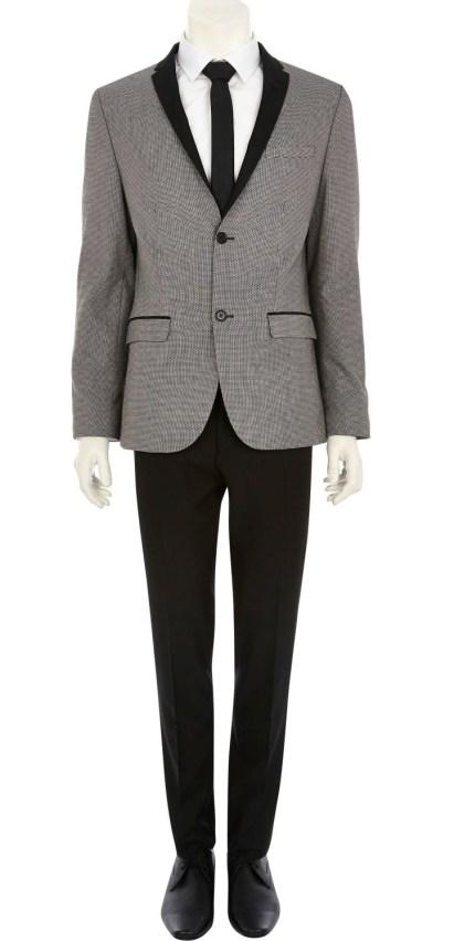 Grey Jacquard Contrast Lapel Blazer €113 - http://eu.riverisland.com/men/suits/skinny-fit/Grey-jacquard-contrast-lapel-blazer-278044
