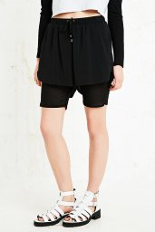 Sparkle & Fade €50 - Double Layer Runner Shorts in Black http://www.urbanoutfitters.com/uk/catalog/productdetail.jsp?id=5126446162015&parentid=WOMENS-SHORTS-EU