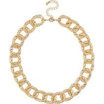River Island €13 - Gold Tone Chunky Textured Chain Necklace http://eu.riverisland.com/women/jewellery/necklaces/Gold-tone-short-chunky-chain-necklace-653267