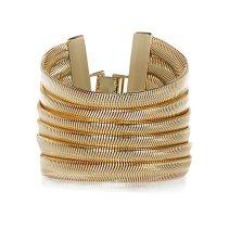 River Island €17 - Gold Tone Slinky Gateway Bracelet http://eu.riverisland.com/women/jewellery/bracelets/Gold-tone-slinky-gateway-bracelet-653809