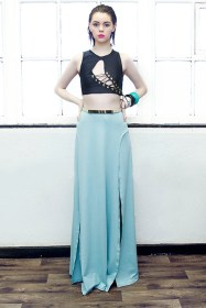 Parallel High Split Maxi Skirt £40/€50 - http://www.dancingdollsuk.com/product/parallel/