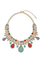 Topshop €24.50 - Pastel Stone Bling Necklace http://www.topshop.com/en/tsuk/product/bags-accessories-1702216/jewellery-469/pastel-stone-bling-necklace-2910384