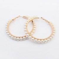 Pearl Hoop Earrings €5 - http://www.loveaccessories.ie/product/pearl-hoop-earrings/