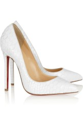 Christian Louboutin €995 - Pigalle Glossed Python Pumps http://bit.ly/TWADjz