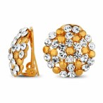 Jon Richard €23 - Polished gold and crystal cluster clip on earring http://bit.ly/1tbZy2R