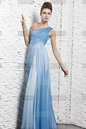 Fanny Crown €369 - Sky Ombre One Shoulder Evening Dress http://bit.ly/TWDWr3