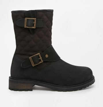 Barbour @ ASOS €197.63 - International Gixer Black Quilted Biker Boots http://bit.ly/1pCs3ij