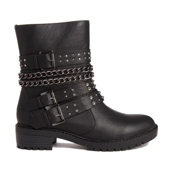 London Rebel @ ASOS €63.98 - Strap Biker Boots http://bit.ly/1DRDQDS