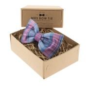 Mrs Bow Tie €34.19 - Blueberry Tartan http://bit.ly/1bDmGjg