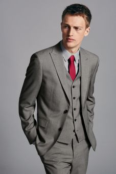 Next from €52 - Grey Birdseye Slim Fit Suit http://bit.ly/1gvhRei