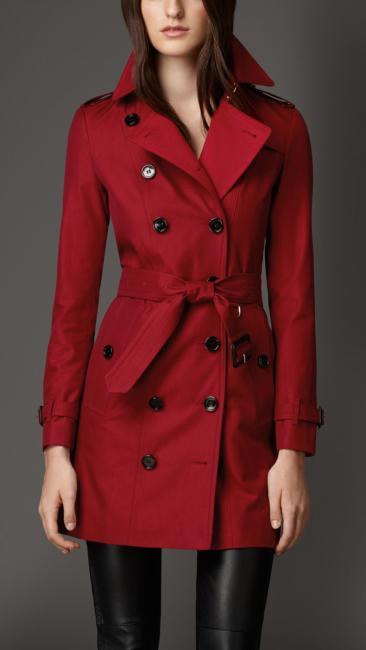 Burberry €1,695 - Gabardine Trench Coat With Check Cashmere Undercollar http://bit.ly/1viZJZI