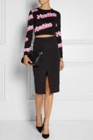 Moschino €360 - Cropped intarsia cotton sweater http://bit.ly/1BoJezP
