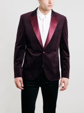 Topman €106.80 - Burgundy & Gold Pin Dot Velvet Jacket http://bit.ly/1qIfpQN