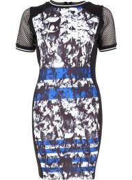 River Island - black graphic print bodycon dress