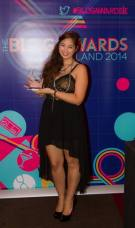 Accepting award for Picture This at Blog Awards Ireland 2014