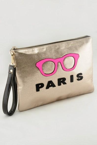 Glitz N Pieces €23 - Gold Paris Glasses Bag http://bit.ly/1zeAWaw