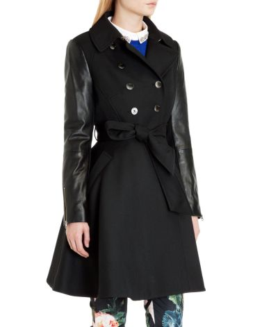 Ted Baker €480 - Mutisia Contrast Sleeve Trench Coat http://bit.ly/1pPtyR4